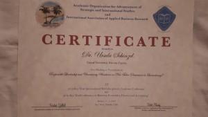Certificate_of_Attendance_AOASIS_KeyWest_conference_Schinzel_Ursula_RespLSUncertaintyAvoidance20190106